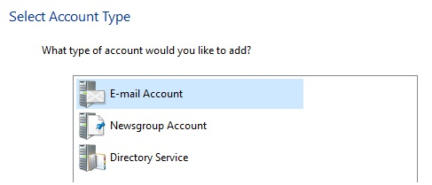 Click E‑mail Account
